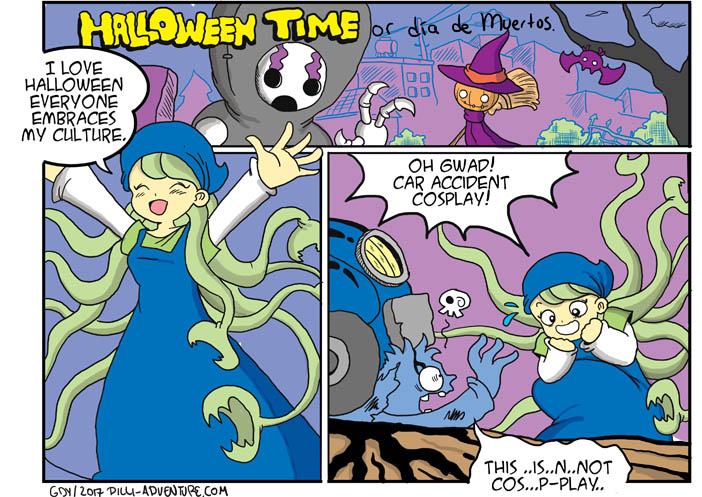 Mona's Halloween….(another filler strip)